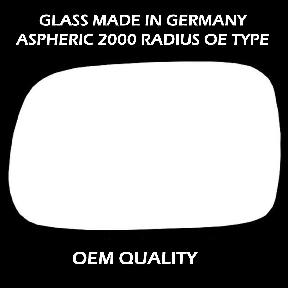 Passenger Side Silver Wing//Door Mirror Glass Including Base Plate LH LR-Freelander 1997 to 2000 Heated