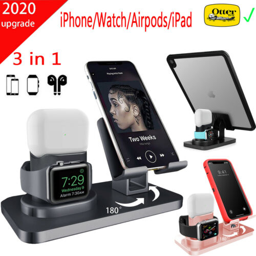 3 in 1 Charging Station Charger Stand Dock For Apple Watch i