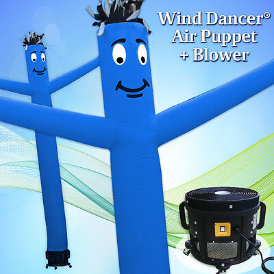 20 Blue Wind Dancer Air Puppet Sky Wavy Man Dancing Inflatable Tube Blower