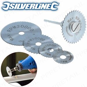 6Pc HSS CIRCULAR SAW BLADE DISCS & MANDREL|Dremel Rotary Tool Wood/Metal Cutting