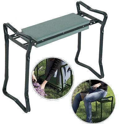 Folding Sturdy Garden Kneeler Gardener Kneeling Pad & Cushion Seat Knee Pad Seat