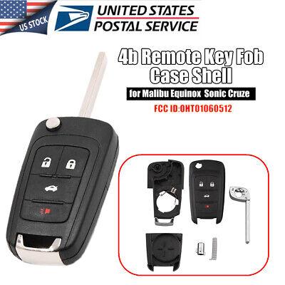 Remote Key Fob Shell Case for Chevy Camaro Cruze Equinox Malibu OHT01060512 Chevy Key Fob
