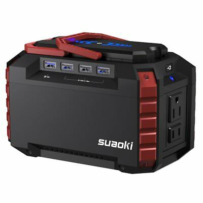 Generator Portable Power Station Quiet Gas Free Solar DC USB Port Camping Travel