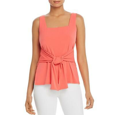 Kenneth Cole New York Womens Square Neck Tie Front Tank Top Shirt BHFO 7520