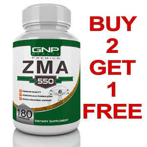 ZMA - 180 Capusles - Zinc - Magnesium - Vitamin B6 - GNPHEALTH