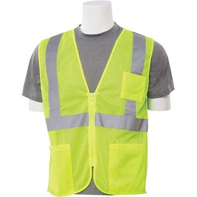 Erb Class 2 Reflective Mesh Safety Vest With Pockets Yellowlime