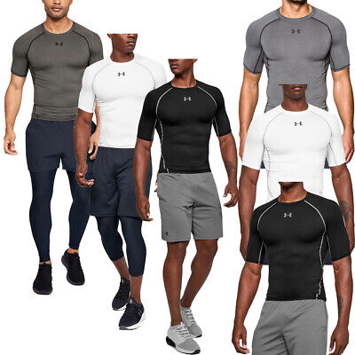 Mens Under Armour HeatGear Short Sleeve Compression T-Shirt Training Top