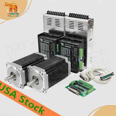 Usafree 2axis Nema34 Stepper Motor85bygh450 1090oz-indriver 5.6a Cnc Router Kit