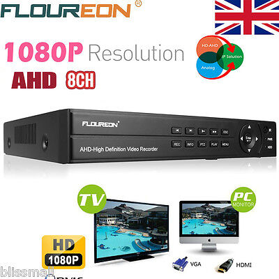 8 Channel CCTV DVR 1080P HDMI P2P AHD Cloud Network DVR Recorder Security System