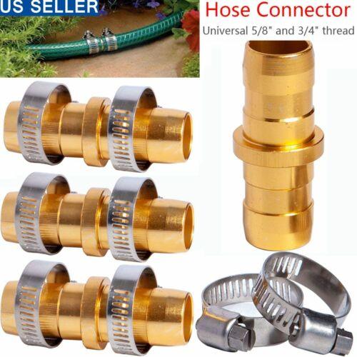 Garden Hose Repair Mender Kit Hose Connector 3//4 5//8 Set Female Connector W4V2