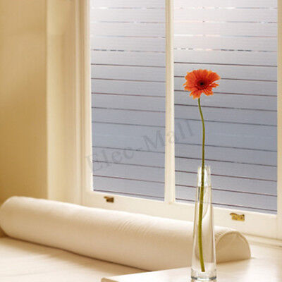 45*200cm Stripe Glass Frosted Window Film Self Adhesive Sticker Room Privacy New