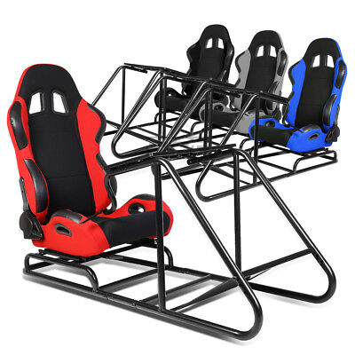 Pvc Woven 2 Toned Adjustable Cockpit Drive Racing Simulator Stand Gaming Chair