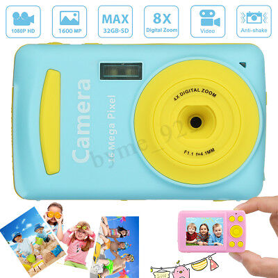 - 2.4'' HD Digital Camera For Kids 16MP Anti-Shake Face Detection Camcorder