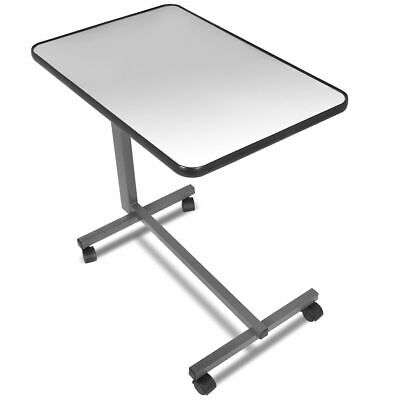 Overbed Rolling Table Over Bed Laptop Food Tray Hospital Desk Tilting Top Gary ()
