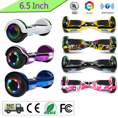 """6.5"""" Hoverboard Two Flash Wheel Self Balance Electric Blue"""