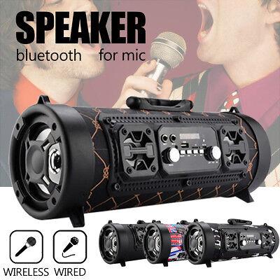 FM Portable Bluetooth Speaker Wireless Stereo Loud Super Bass Sound Aux USB TF
