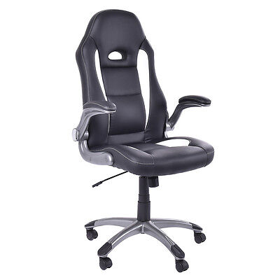 Pu Leather Executive Racing Style Bucket Seat Chair Computer Office Desk Task