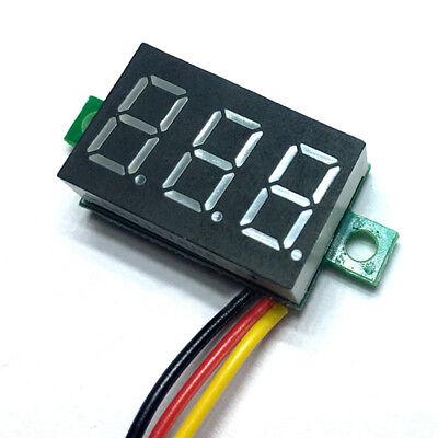 Mini Dc 0-100v Voltmeter Led Panel 3-digital Display Volt Voltage Meter 3 Wires