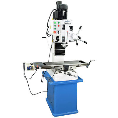 Pm-932m-pdf Vertical Milling Machine Power Down Feedwith Stand Free Shipping