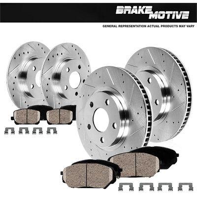 Fits Front & Rear Drill Slot Brake Rotors And Ceramic Pads 2011 - 2014 Impala