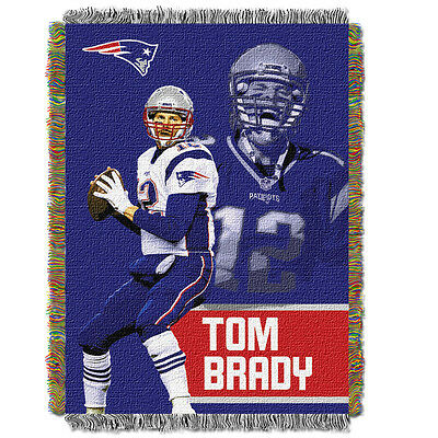 (Tom Brady New England Patriots - Woven Tapestry Throw)