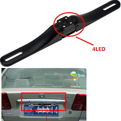 4LED License Plate IR Rear View Night Vision Reverse Parking Car Camera Kit