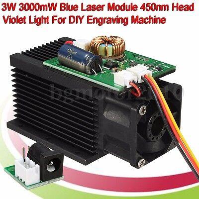 3w Laser Engraving Head Module Diy 3000mw Wood Metal Engraving Cutting Machine