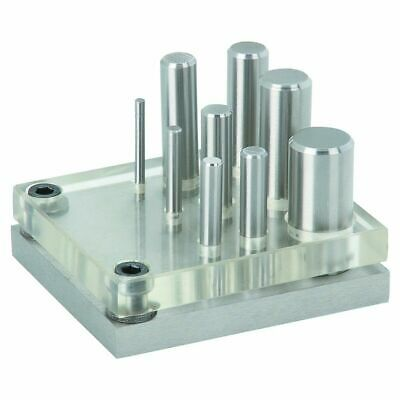 New 9 Pc Piece Hole Sheet Metal Steel Cutter Punch And Die Punching Tool Puncher