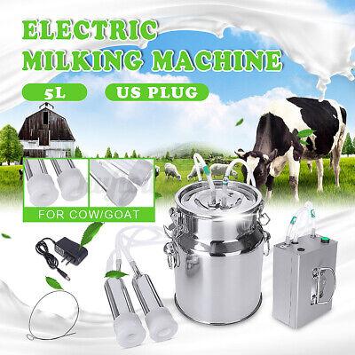 5l Electric Milking Machine Vacuum Impulse Pump Stainless Steel Cow Go K