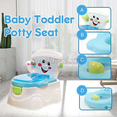 2-in-1 Potty Training Toilet Toddler Toilet Training Set Kids Baby Chair Seat