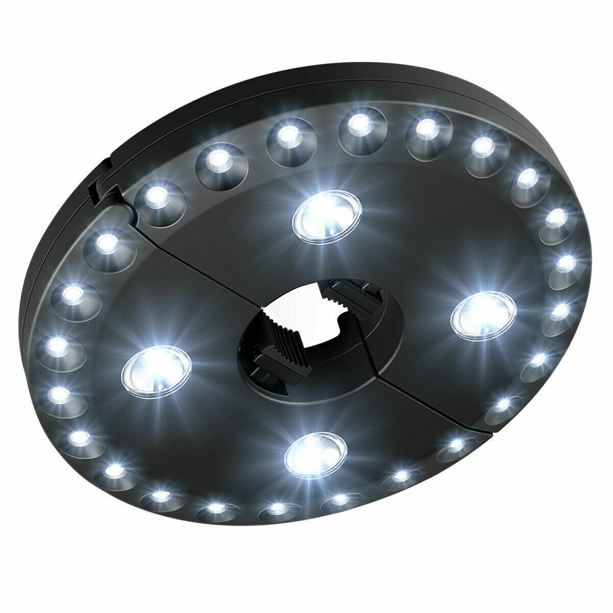 28 LED Patio Umbrella Parasol Lights 3 Brightness Mode Outdoor Camping Lamps New