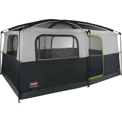 Coleman Prairie Breeze Cabin 9 Person Camping Tent with Fan & Light 14 x 10' for sale  Shipping to Canada