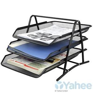 A4 Ablage Briefablage Schreibtischablage Briefkorb Ablagefächer Dokumentenablage