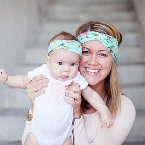 2PCS Womens & Kids Girls Baby Headband Bow Flower Hair Band Accessories Headwear