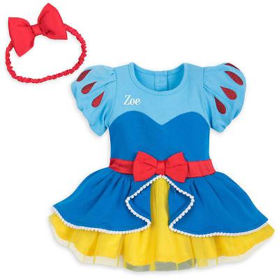 NWT Disney Store Snow White Baby Costume Bodysuit Headband No Name on - Disney Snow White Baby Kostüm