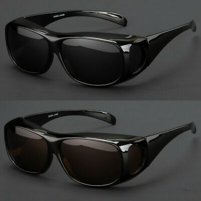 Fit Over Polarized Prescription Glasses Sunglasses Cover All Drive Wrap (Over Sunglasses Wrap Around)