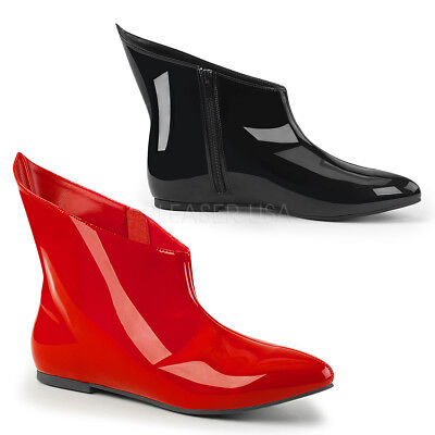 Black Red Harley Quinn Queen of Hearts Costume Ankle Boots Shoes Womans 7 8 9 10