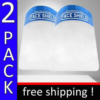 FACE SHIELD PROTECTION 2 PACK SPLASH PROTECTION INDUSTRY SAFETY ANTI FOG SHIELD