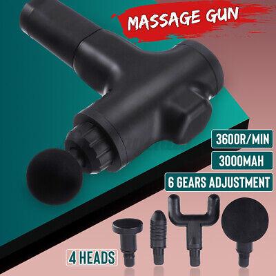 Electric Massage Gun Massagepistole Massager Muscle Massagegerät mit 4 Köpfe