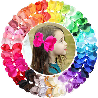 Coloring For Toddlers (40 Colors/Set Ribbon 4 Inches Hair Bows Alligator Clips for)