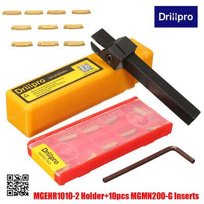 10x 2mm MGMN200-G Stechplatte MGEHR1616-2 Stechhalter Abstechstahl 100x16x16mm