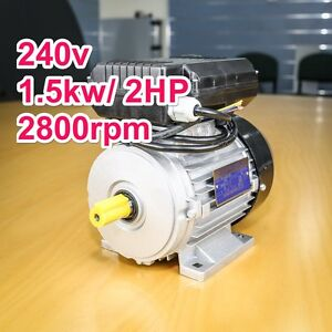 Air-Compressor-motor-single-phase-240v-1-5kw-2HP-2800pm-shaft-19mm