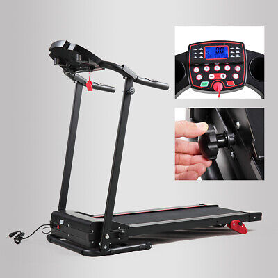 Gym/Home Folding Electric Power Treadmill Cardio Walking Fitness Machine Black