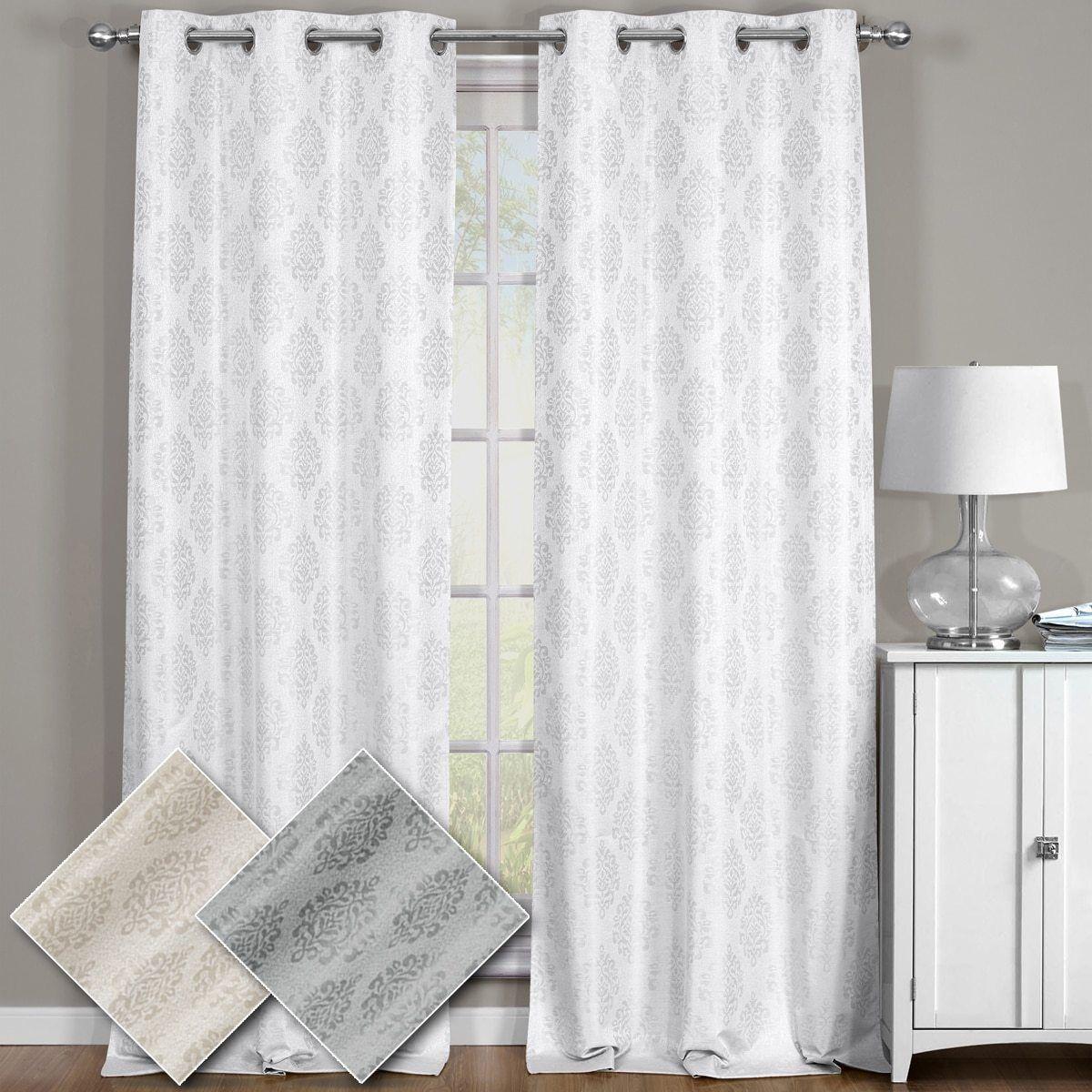 Paisley 100% Blackout Window Curtain Panels Full Light Heat