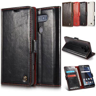 For LG V20 V10 Slim Card Pocket Wallet Flip Leather Stand Shockproof Case (Stand 10 Pockets)