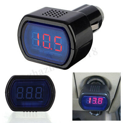 12v24v Led Volt Meter Auto Car Cigarette Lighter Voltage Gauge Battery Tester