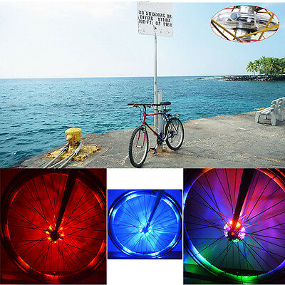 8 LED Lights Bicycle Bike Cycling Wheel Spoke Light Lamp