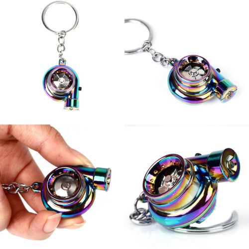 LED Light Keyring BOV Sound Electric Turbo Keychain Neo Rainbow Drift Racing SQ