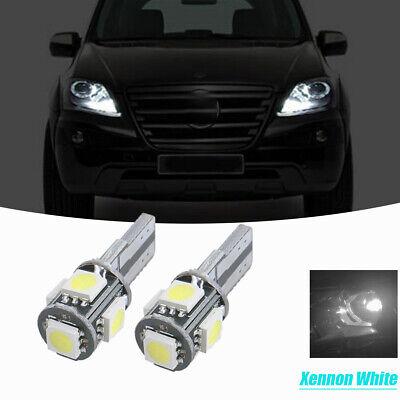 2 Birnen LED Weiß Licht Nachtlichter / -leuchten Position Mercedes ML W164
