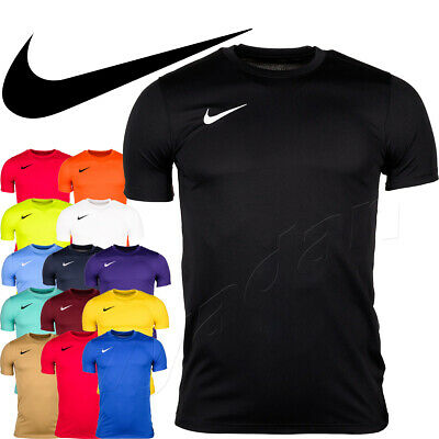 Nike Park VII T-Shirt Men Activewear Top Sports Football Gym Running Training